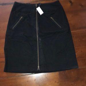 The Limited black zipper skirt